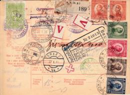 Récépissé De Colis Postal De Yougoslavue Affranch.mixte Fiscal Et T Poste En 1926 - 1921-1960: Modern Period