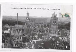 CPA GISORS (Eure)  La Cathédrale Vue De La Tour Du Prisonnier - Gisors