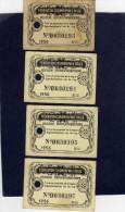 F�d�ration Colombophile Belge -Lot de 4 Titres de propri�t� de 1956   Eigendomsbewijs Ring Bague