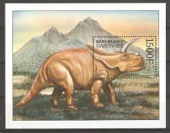 Gabon (2000) Yv. Bf. 105  /   Dinosaurs - Dinosaurios - Dinosaures - Dinosauros - Preistorici