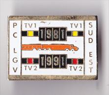 PIN´S  THEME TGV   PC LGV   SUD EST DE LA FRANCE   10 ANS ANNIVERSAIRE  1981  1991 - TGV
