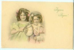 M. M. VIENNE / Joyeuses Paques N° 370 / Jeunes Filles Fillettes Avec Oeuf De Paques - Vienne