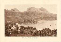 """Photo : Polynésie-Baie De Taiohae - Format 20 X 29 - """"Librairie De L´enseignement """" - 1936 - (t521) - Luoghi"""