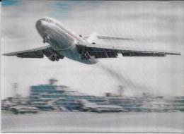Tokyo Airport . Boeing 727 Au Décollage. - Cartes Stéréoscopiques