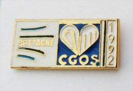Pin's CGOS Logo Bretagne 1992 - 35R - Autres