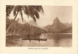 """Photo : Polynésie - Moorea - Fmat  20 X 29 - """"Librairie De L´enseignement """" - 1936 - (t990) - Luoghi"""