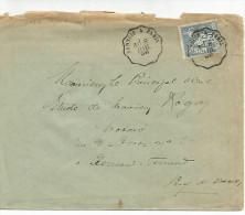 AMBULANT DE SANNOIS A PARIS SUR LETTRE DU 8/7/1898 - Poststempel (Briefe)