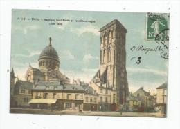 Cp , 37 , TOURS , Basilique SAINT MARTIN Et Tour CHARLEMAGNE , Côté Nord , Voyagée - Tours