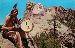 SIOUX -  Benjamin Black Elk And Mt Rushmore - Unused - Indiani Dell'America Del Nord