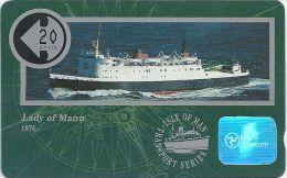 Isle Of Man - Ships - Lady Of Mann - 10IOMA - 1991, 6.000ex, Used - Isla De Man