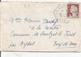 OBLITERATION DE RAYON C.P. 6 (MEURTHE ET MOSELLE) SUR MIGNONETTE DU 2/1/61 - Marcophilie (Lettres)
