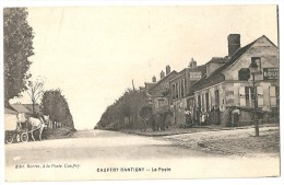 Cpa: 60 CAUFFRY RANTIGNY (ar. Clermont) La Poste (animée, Attelages) - Altri Comuni