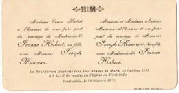 55Vol   Carte Carton D'invitation à Un Mariage à Fontvieille En 1913 - Wedding