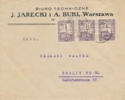 WARSZAWA - 1926 , Nach Berlin -  Big Letter, Dispatch = 4,20 EURO - 1919-1939 Republic