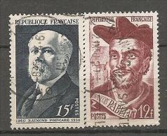 FRANCE - Yv. N°  864,866  (o)  Poincaré,Rabelais Cote  1,5  Euro  BE - France
