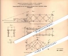 Original Patent - W. Friedrich In Rostock I. Mecklenburg , 1899 , Zugbrücke , Brücke , M. Putzrath Und O. Kutz In Berlin - Architektur
