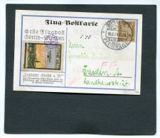 Deutsches Reich Postkarte 1924 1e Flugpost Gorlitz-Dresden - Gebraucht