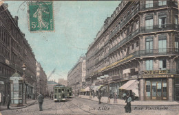 CPA Lille, Rie Faidherbe, Tram, Tramways (pk17921) - Lille