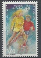 Andorra (French Adm.), FIFA World Cup, Football, Soccer, 1998, MNH VF - French Andorra