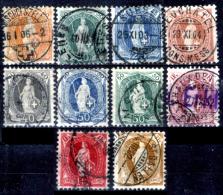 Svizzera-124 - 1882 - Unificato: N. 71/80 (o) - Privi Di Difetti Occulti. - Gebraucht