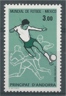 """Andorra (French Adm.), FIFA World Cup """"Mexico ´86"""", Football, Soccer, 1986, MNH VF - Unused Stamps"""