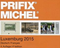 Special Catalogue Timbres Luxemburg PRIFIX MICHEL 2015 New 25€ Mit ATM MH Dienst Porto Besetzung LUX Deutsch/französisch - Temas