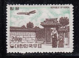 Korea South MH Scott #C33 20w Airplane Over Songnyu Gate, Tuksu Palace - Corée Du Sud
