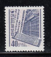 Korea South MH Scott #650 40w Library Of Early Buddhist Scriptures - Corée Du Sud