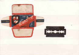 Old Razor Blade+wrappers-Rasierklinge+Verpackungen-Enveloppeur+lames De Rasoir-LAMETTA DA BARBA, Vindsor - Razor Blades