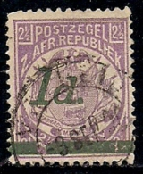 SOUTH AFRICA TRANSVAAL 1895 Used Stamp 1d Overprint On 2 1/2d  (round Dot) - South Africa (...-1961)