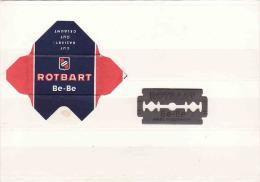 Old Razor Blade+wrappers-Rasierklinge+Verpackungen-Enveloppeur+lames De Rasoir-LAMETTA DA BARBA, Rotbart Be-Be,Germany - Scheermesjes