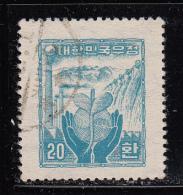 Korea South Used Scott #211 20h ´Reconstruction´, Blue - Corée Du Sud