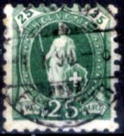 Svizzera-127 - 1888 - Unificato: N. 82 (o) - Privo Di Difetti Occulti. - Gebraucht