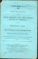 1892 HMSO UK Government Report Treaty Series GB & USA Behring's Sea Polar Arctic - Historical Documents