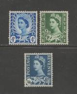 UK Wales 1966 Mint Hinged Stamps QE II, 3 Values Only Nrs. 4-6 - Regional Issues