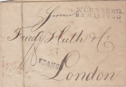 N�rnberg Brief Letter, 1830, to London (Franco, chop) (FREDERICK HUTH & CO., LONDON BANKERS)