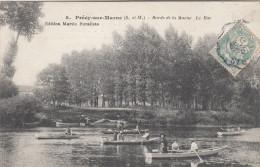 CPA Précy Sur Marne, Bords De La Marne, Le Bac (pk17993) - France