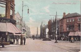 CPA Colorisée Animée - King Edward Street, HULL - 1905 - Hull
