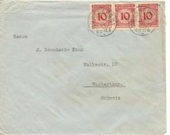 1924 Deutschland,  Brief, Nürnberg 5.6.1924 Nach Schweiz, Mi 339, Siehe Scans! - Cartas
