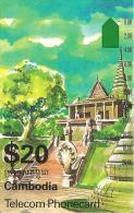 CARTE -MAGNETIQUE-$20-CAMBODIA-TEMPLE-TBE - Cambodge
