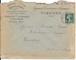 LF52- Entête Publicitaire Machine à Vapeur  Timbre N°137 - Poststempel (Briefe)