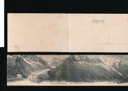 74  - Carte Panoramique  - Panorama Pris De La Flégère  Channaux Frères Geneve - Francia