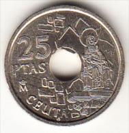 ESPAÑA 1998 .25 Pts.CEUTA  NUEVA SIN CIRCULAR. CN4312 - 25 Pesetas