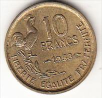 FRANCIA 1958.  10 FRANCOS   MBC GRABADOR GUIRAUD   CN4312 - Francia