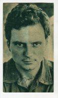 "AUTOGRAFO DÉDICACÉ AUTOGRAPHED ""FRANCO INTERLENGHI"" ITALIAN ACTOR 1958 SIGNATURE EXCLUSIVE NON CIRCULEE GECKO - Autographs"