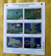 SMOM 2015 - ANTICHE CARTE GEOGRAFICHE 2ND SERIES , FULL SHEET MNH** - Malta (la Orden De)