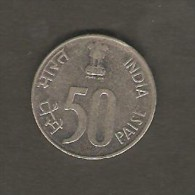 INDIA   50 PAISE  1998  (KM # 69) - Inde