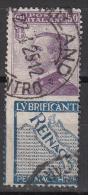 Italy     Scott No   105 F    Used    Year  1924 - Usati