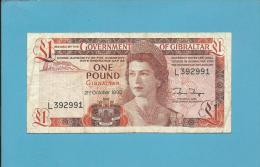 GIBRALTAR - 1 POUND - 21.10.1986 - P 20.c - Queen Elizabeth II - 2 Scans - Gibraltar