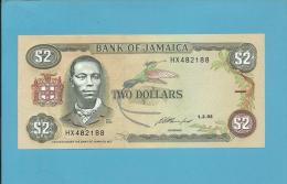 JAMAICA - 2 DOLLARS - 1993 - Pick 69.e - Sign. 11 - UNC. - 2 Scans - Jamaica